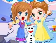Elsa and Anna Save Olaf 2