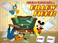 Mickey Mouse and Friends Pillow Fight